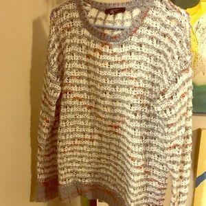 Multi color long sweater